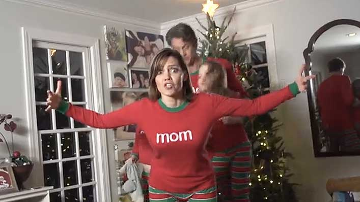 92f73a9af8 When A Family Puts On Striped Christmas Jammies And Dances To Will Smith S  Miami For