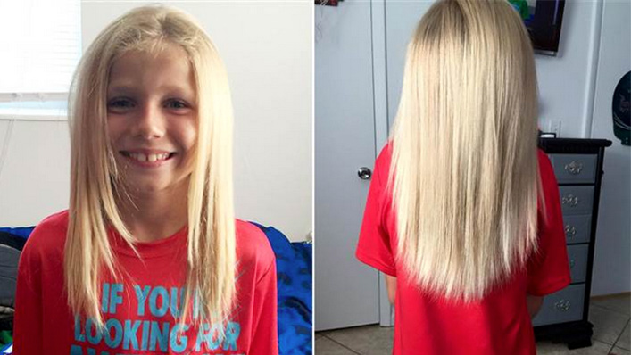 This Brave Kid Grew His Hair Out To Look Like A Girlbut -1144