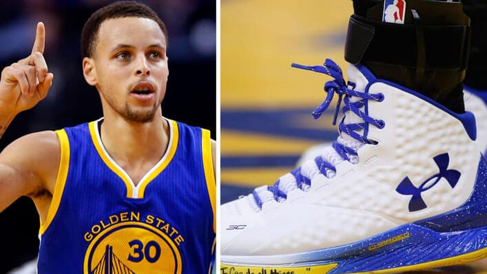 Stephen Curry Sports I Can Do All Things Bible Verse On Under Armour Shoes