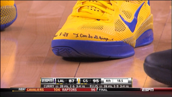 Steph Curry shoes with bible verse 2