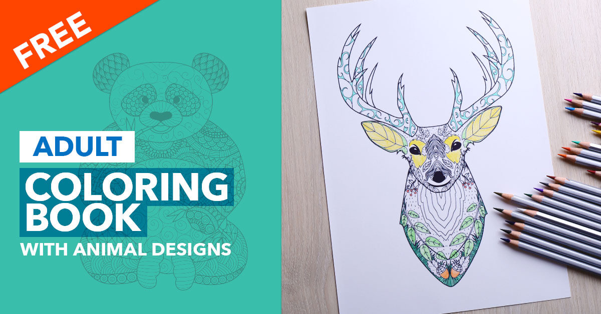 Now Check Your Email For The Download Link Adult Coloring Book With Animal Designs