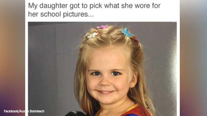 "Daughter's ""Pootergirl"" Costume for Picture Day Goes Viral After She Rejects Dad's Outfit Choices"