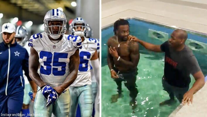 """He Died With Christ"": Dallas Cowboys' Pastor Baptizes 3 Players Who Confessed Their Faith in Jesus"