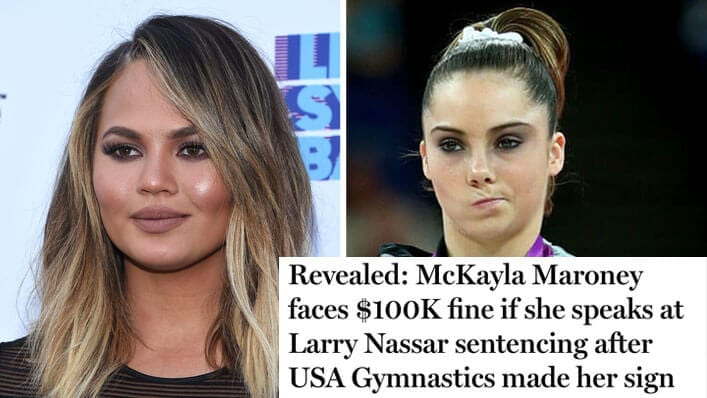 McKayla Maroney Faces $100K Fine for Sexual Abuse Confession—& Chrissy Teigen WON'T Have It