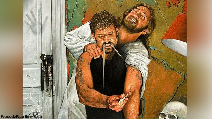 Painting of Man Shooting Jesus Up With Heroin Goes Viral for a Powerful Reason