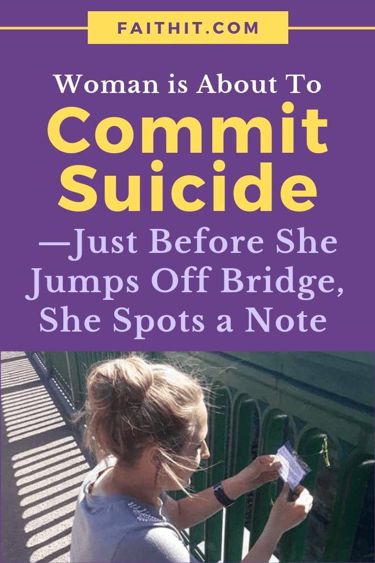 Woman Is About to Commit Suicide—Just Before She Jumps Off