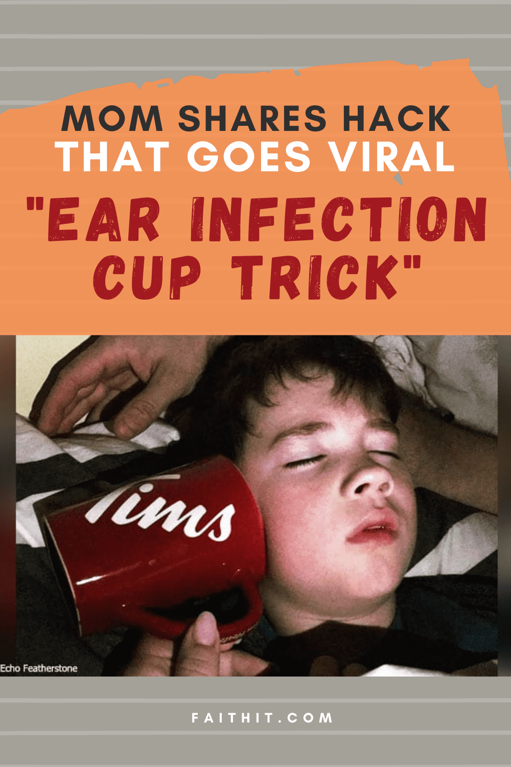 ear infection cup trick