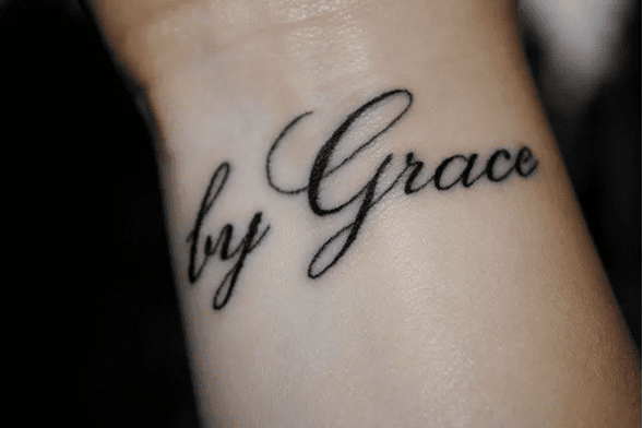 By Grace christian tattoo