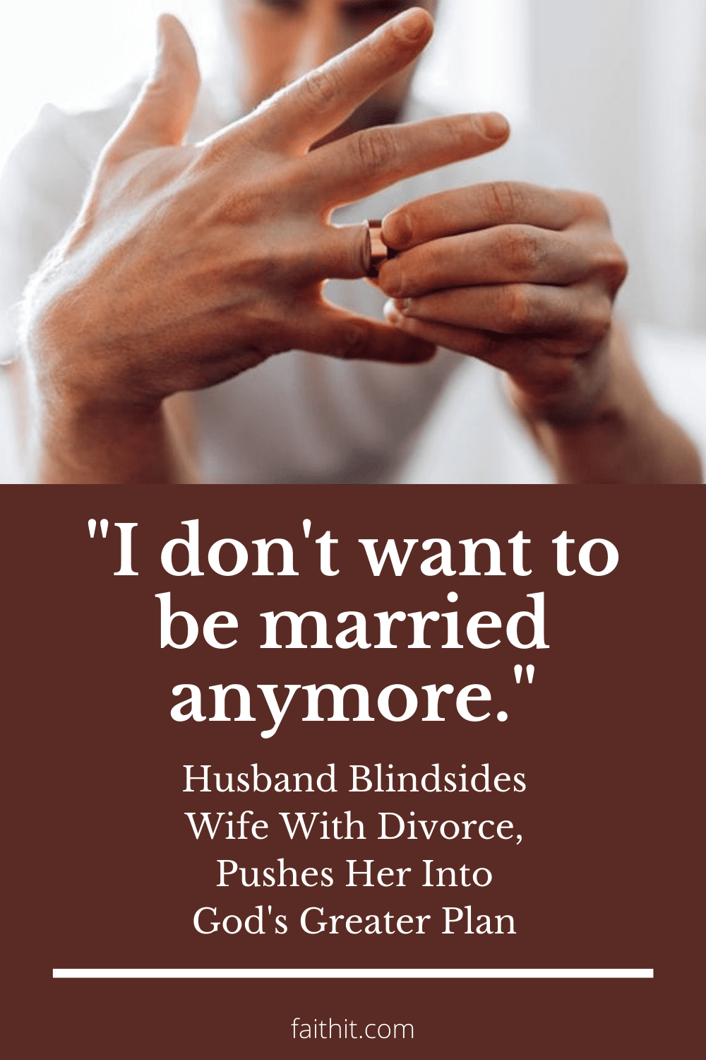 i don't want to be married anymore