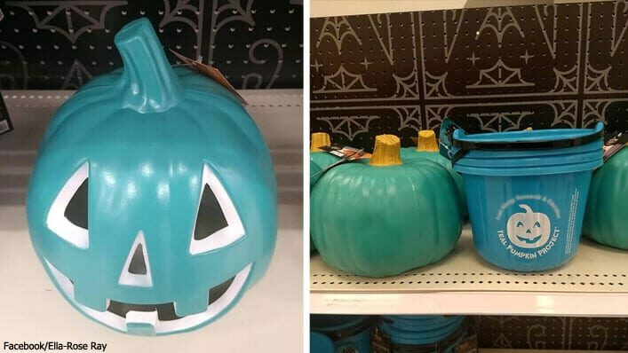 teal pumpkins